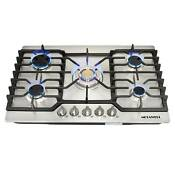 Metawell 30 Stainless Steel Built In 5 Burner Gas Cooktops Gold Wok Burner Us