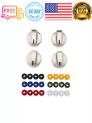 4 Pack Universal Gas And Electric Range Durable Stainless Steel Knob Kit