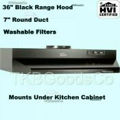Black Over The Stove Range Hood Ducted 36 Exhaust Fan Kitchen Under Cabinet New