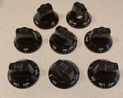 Wolf Classic Black Knob Kit 8pc For Ranges See Pics And Description