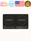 25 In Double Precision Induction Cooktop In Black W Pre Programmed Settings
