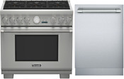 Thermador Prg366jg 36 Pro Grand Range And Free Sapphire Dishwasher Ss