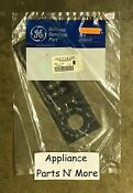 Ge Range Oven Black Clock Overlay Faceplate Part Number Wb27t10123 New