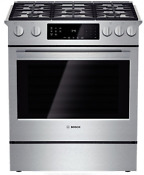 Bosch 800 Series Hgi8054uc 30 Slide In Gas Range W Convection Stainless Steel