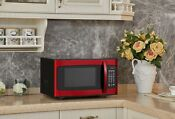 Red Countertop Steel Microwave Stainless Oven Sharp Led Display 1000 Watts