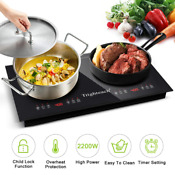 Portable Induction Cooktop 2200w Electric Stove Induction Cooker Double Burner