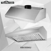 Thor Kitchen 30 Wide Under Cabinet Range Hood 900 Cfm 4 Speed Vent Fan Hrh3006u