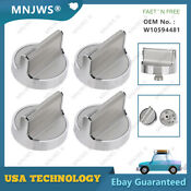 4pcs Durable Knobs Part Appliance W10594481 Ps11756643 For Whirlpool Stove Range