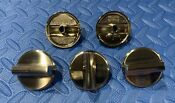 Wolf Knob Set 5pc Stainless For Ct36g Cooktops See Pics Desc