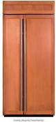 Sub Zero Bi 36s O 36 Inch Built In Side By Side Refrigerator Panel Ready