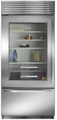 Sub Zero Bi 36ug S Ph Lh 36 Built In Bottom Freezer Refrigerator Sxsteel Glass