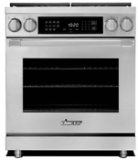 Dacor Hdpr30sngh Heritage 30 Dual Fuel Range Convection High Altitude Stainless