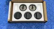 Wolf Professional Knob Set Black For 36 Cooktops See Pics