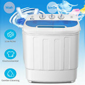 13lbs Top Load Washing Machine Compact Laundry Washer Dryer Twin Tub Portable Us