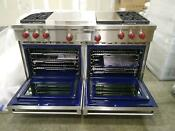 Df604cg Wolf 60 Dual Fuel Range 4 Brns 24 French Top 12 Grill Display