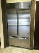 Sub Zero Bi42ufdidsth 42 Inch Built In French Door Refrigerator With 24 7 Cu Ft