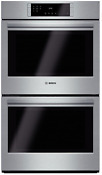 Bosch Hbl8651uc 800 Series 30 Double Electric Wall Oven Stainless Steel