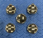 Wolf Stainless Knob Set 5pc For 36cooktop Ct36g S See Pics Desc