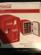 New Coca Cola 6 Can Personal Mini Fridge 120vac Or 12vdc Home Or Car Free Ship