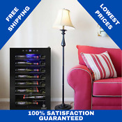 Vinotemp 42 Bottle Single Zone Wine Cooler Touch Screen Led Metal Wire Shelves