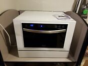 Black Decker Bcd6w Compact Countertop Dishwasher White Few Dents May Need Hoses