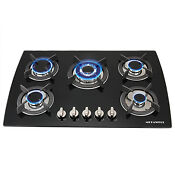 Brand 30 Black Electric Tempered Glass Built In 5 Burner Oven Gas Cooktops Usa