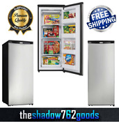 Modern Upright Freezer 8 5 Cu Ft Energy Star Stainless Steel Large Cooling Area