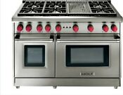 Wolf 48 Gas Range 6 Burners And Infrared Charbroiler Gr486c