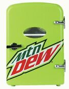Mountain Dew Mini Fridge 6 Cans Refrigerator New Car Adapter Or Home Outlet
