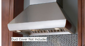 Wolf Pwc482418 48 Inch Wall Mount Chimney Range Hood Blower Not Included