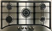 Big Sell 35 5 Burners Built In Black Stainless Steel Cooktop Gas Stove Ng Lpg