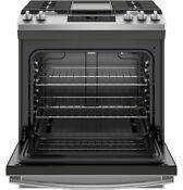 Ge Slide In Gas Range Jgss66selss In Stainless Steel Direct From Ge