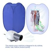 800w Portable Electric Air Heater Clothes Dryer Rack Folding Drying Machine Us