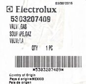 Electrolux 5303207409 Gas Valve For Dryer New Genuine