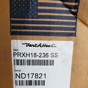Vent A Hood 36 600 Cfm Stainless Wall Mount Hood Model Prxh18 236 Ss New