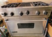 36 Viking Range With Grill And Hood