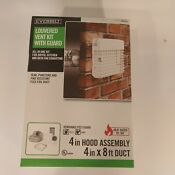 Everbilt 609241 Dryer Vent Kit With Guard 4 In X 8 Ft Duct 4 In Hood Td48pgkhd6