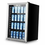Beverage Refrigerator And Cooler 156 Can Mini Fridge With Glass Door For