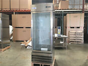 One Glass Door Nsf Flower Cooler Beverage Refrigerator Stainless Steel