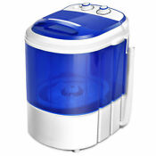 Small Mini Portable Compact Washer Washing Machine 6 6lbs Capacity Blue