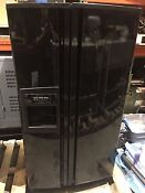 Kitchenaid Ksrs25i 25 5 Cu Ft Side By Side Refrigerator Black