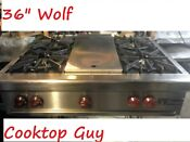 Wolf 36 Por Stainless Rangetop 4 Grill In Los Angeles