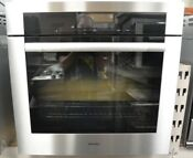 Miele 30 Stainless Steel Single Electric Convection Wall Oven H6780bp