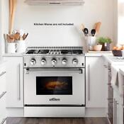New 30 4 Burner Gas Range Electric Oven Dual Fuel Stainless Steel 4 2cu Ft D5d0