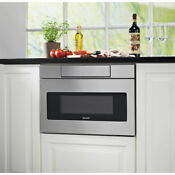 Sharp Flat Panel Lcd Display Built In Stainless Steel Drawer Microwave 24