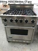 Viking 30 Pro Stainless Range Natural Gas Vgsc3064bss In Los Angeles