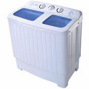 Portable Mini Compact Twin Tub 17 6lb Washing Machine Washer Spin Spinner