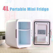Portable Mini Fridge Cooler Warmer Auto Car Boat Home Office Ac Dc Pink Bs 4l