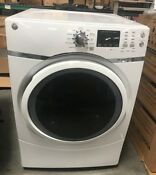 Ge Gfd45gsskww 7 5 Cu Ft Capacity Front Load Gas Dryer With Steam