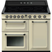 Smeg Victoria Tr103ip 100cms Electric Range Cooker With Induction Hob Cream